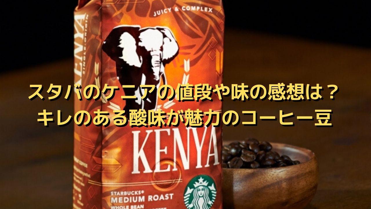 スタバのケニアの値段や味の感想は?キレのある酸味はアイスで飲むのにピッタリ⁉