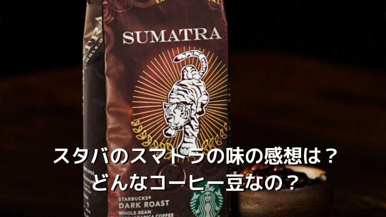 スタバのスマトラの味の感想は?定番コーヒー豆の特徴は?【深煎り】