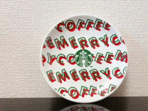 スタバホリデー2019丸小皿メリーコーヒー