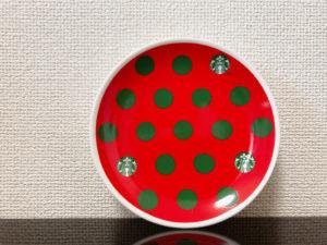 スタバホリデー2019丸小皿ドット