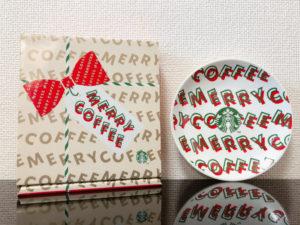 スタバホリデー2019丸小皿メリーコーヒー×箱