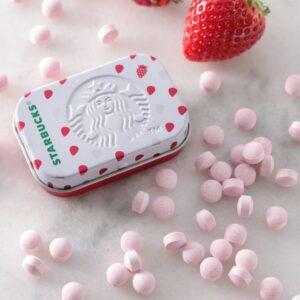 スタバ夏新作アフターコーヒーミント(ストロベリー)の値段・缶デザイン・味の感想【2021年4月】