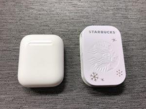 スタバアフターコーヒーミント(ペパーミント)大きさ比較画像