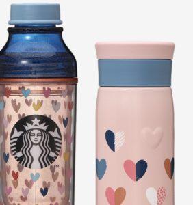 バレンタイン2020ボトルカラフルハート(473ml) / バレンタイン2020ステンレスボトルピンク(350ml)