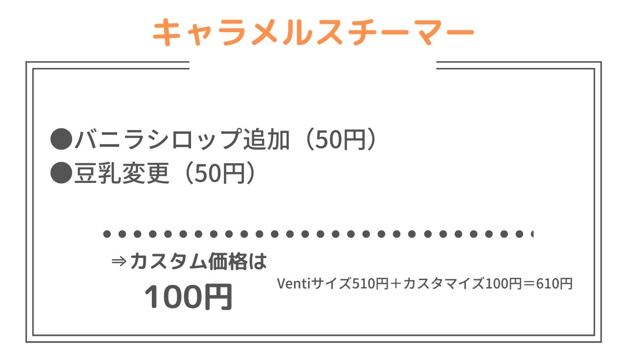 700 カスタマイズ スタバ 円